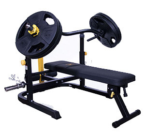 """Fitking 32/"""" Pro Grip Revolving Cable Curl Bar Attachment with Rubber Grips"""